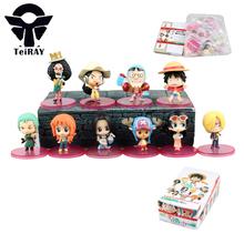 10Pcs One Piece Luffy Zoro Nami Usopp Sanji Chopper Franky Figuarts Anime Pvc action figures toy Banpresto kids birthday toys