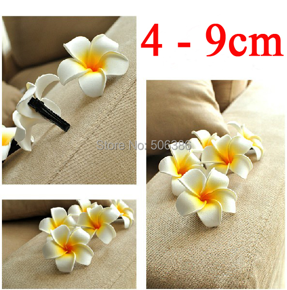 Wholesale 4-9cm alligator clip Frangipani Flower,Foam Hawaiian Plumeria flower,bridal hair flower,Studio photography hair flower(China (Mainland))