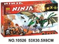 Bela 10526 Ninjagoes Green Dragon Ninja Bricks Toy Minifigures Building Block Minifigure Toys Compatible with Legoe