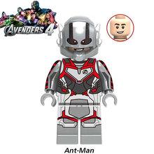 Legoed Marvel Avengers 4 endgame Captain America iron man Thanos Hulk Building Blocks Figures Ninja Motorcycle Toys for kids(China)