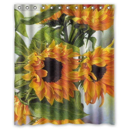 Custom Sunflower Shower Curtain 60 X 72 Free Shipping