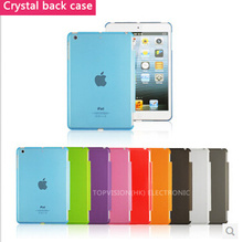 Good quality! clear transparent pc crystal case for ipad mini 1 2 3 retina protect skin shell smart cover partner(China (Mainland))
