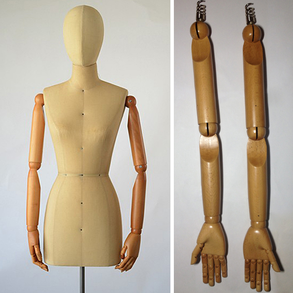 Fabric covered female mannequin arms, Dress form mannequin arms and hands, flexible joints wooden arms(China (Mainland))