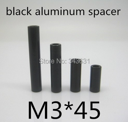 High Quality M3*45 mm black aluminum spacer round standoff  for RC Models<br><br>Aliexpress