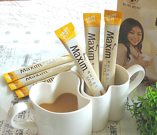 30 pcs lot South Korean low fat milk mixed three in one gold medal instant coffee