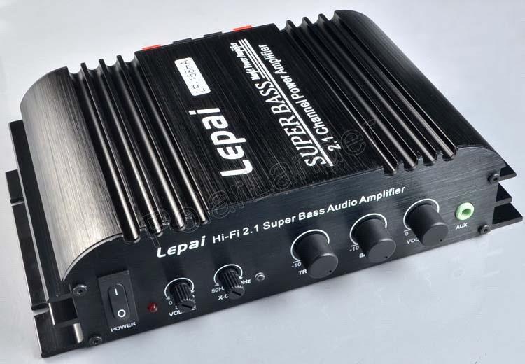 LP-168HA 2.1 Mini Super Bass Car Amplifier Stereo Amp Sub Output 12V Audio Stereo 2.1 Channel Car Amplifier Hi-fi Mini(China (Mainland))