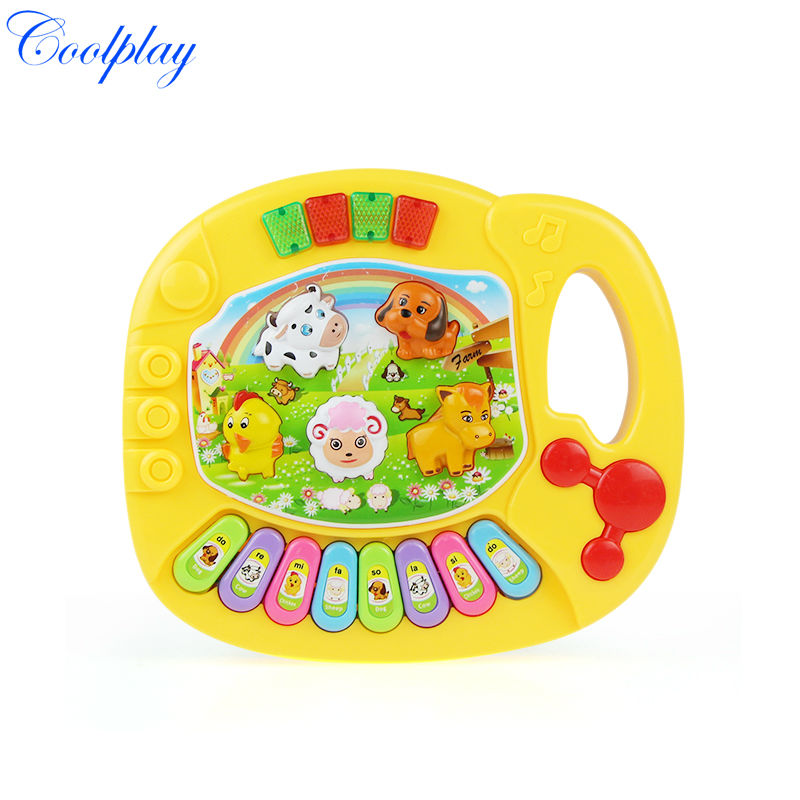 CP5031B Wholesale Baby Kid's Animal Farm Mobile Piano Smart Music Toy Electric ENGLISH Early /Xmas Gift Free shipping(China (Mainland))