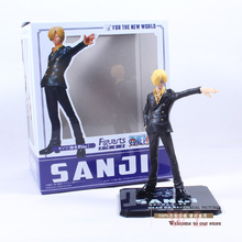 1piece 16cm 6.3″ New World the Sanji Japanese Anime Cartoon Two Years Later One Piece Action Figures PVC Tos Doll Model