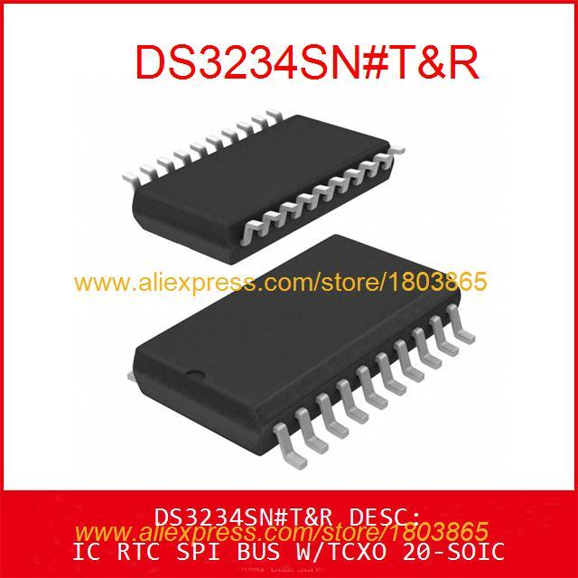 Free Shipping Diy Kit Electronic Production DS3234SN#T&R IC RTC SPI BUS W/TCXO 20-SOIC DS3234SN 3234 DS3234 1pcs(China (Mainland))