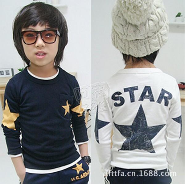 14 Free Shipping Autumn And Winter Star Kids Baby Boy Long Sleeve T shirt Cotton Kids Clothing Set Children Fashion Tees t-shirt<br><br>Aliexpress