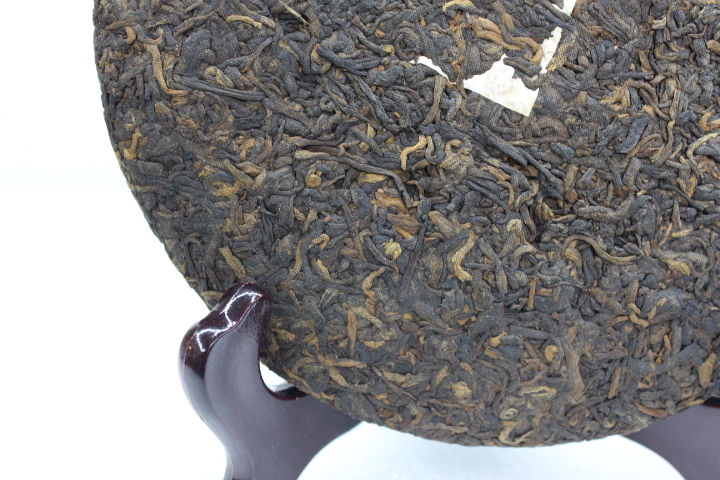 Yunhe Made In 2009 In Yunnan Menghai 5-10yrs Tea Blue Qizi Tea Cake 357g Fermented Tea Green Food Health Care Drinking cheap