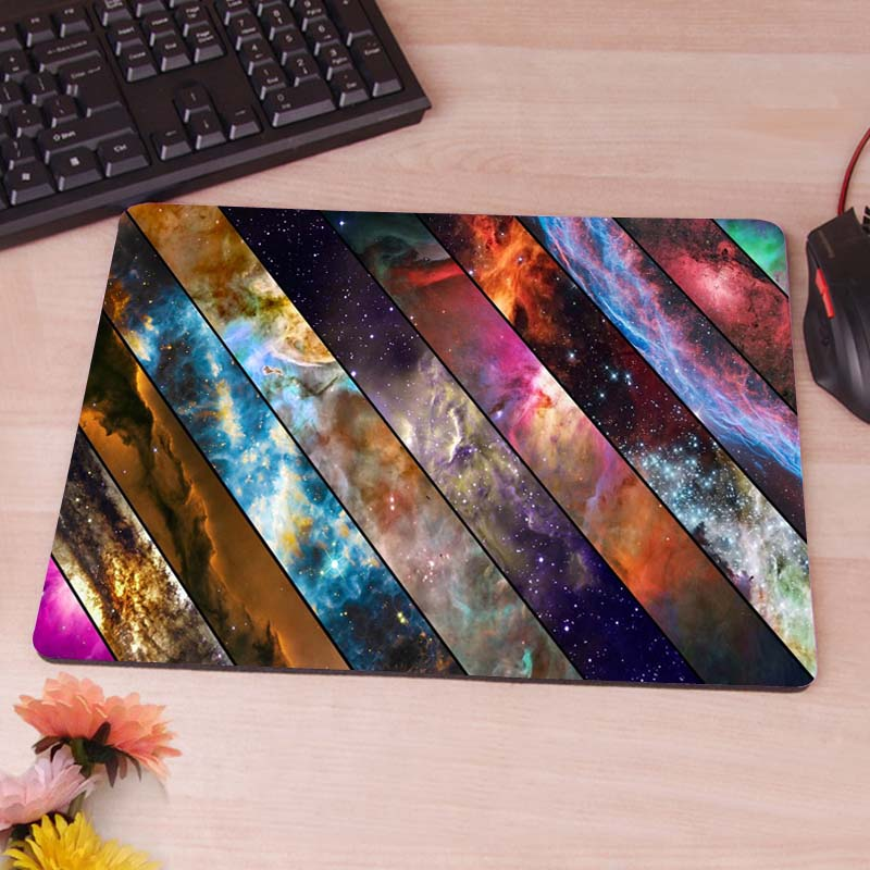Abstract Space Nebula Collage Computer Mouse Pad Mousepads Decorate Your Desk Non-Skid Rubber Pad<br><br>Aliexpress
