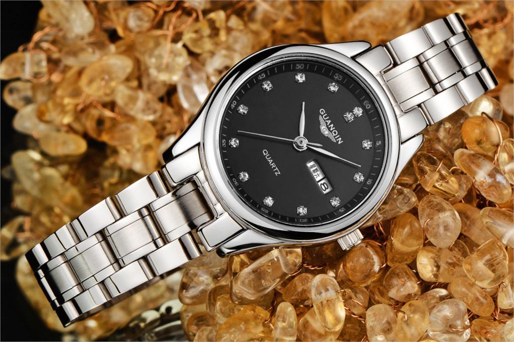 Бренд GUANQIN женские часы кварцевые часы женщины кварцевые часы кристалл урожай бизнес relogio feminino классический montre femme
