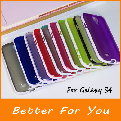 PC +TPU Transparent Clear Case Cover For Samsung Galaxy S4 s3 note 2 note 3 iPhone 5 5s iPhone 5c,1000pcs/l(China (Mainland))