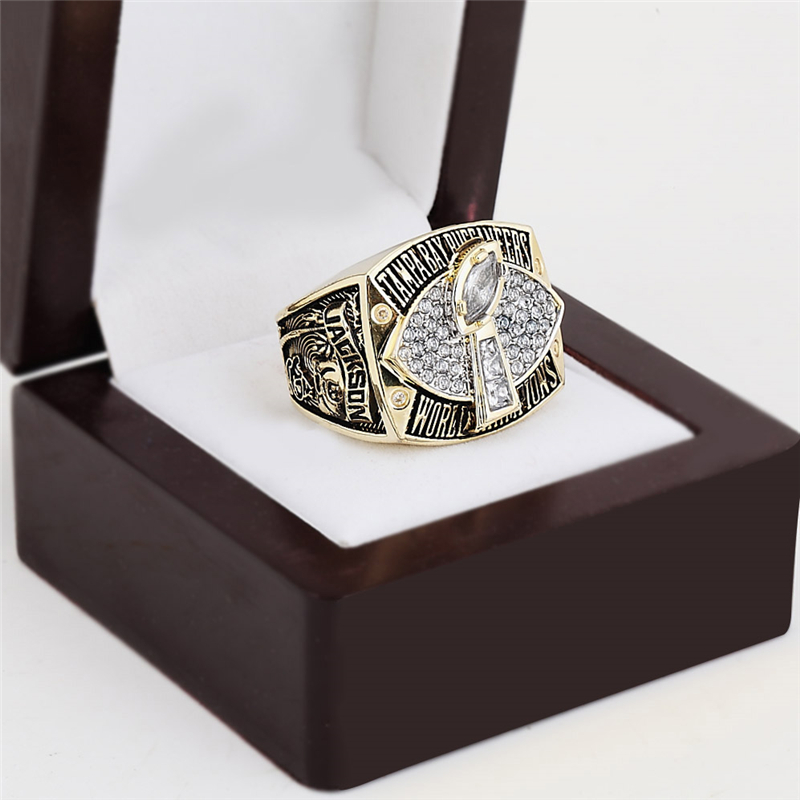 NFL Replica 2002 Tampa Bay Buccaneers Super Bowl Football Championship Rings Solid Size 10-13 Christmas Fans Best Gift(China (Mainland))
