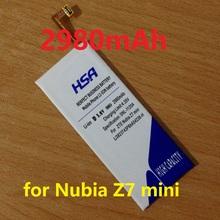 2980mah LI3823T43P6hA54236-H Phone Battery Use for ZTE Nubia z7 mini Z7 mini NX507J 5.0 inch Phone(China (Mainland))