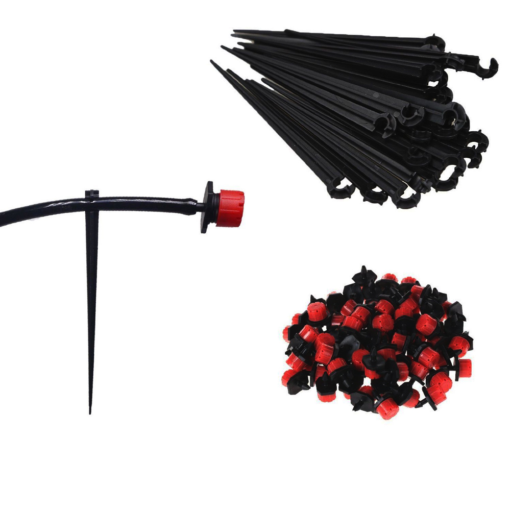 1Set 5M Micro Garden Drip Irrigation System Plant Automatic Self Watering Garden Hose Kits with Connector+10x Adjustable Dripper