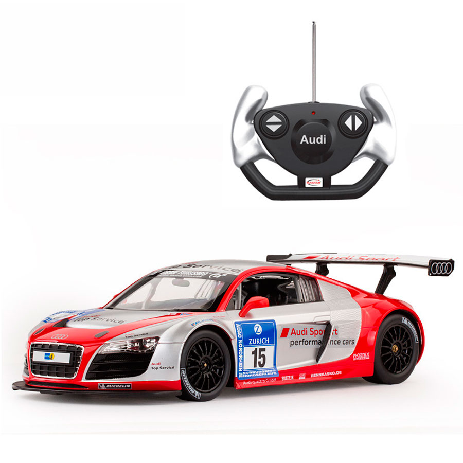 RASTAR 1:14 Audi R8 LMS rc car educational gift for children electric car model and Collection with original box(China (Mainland))