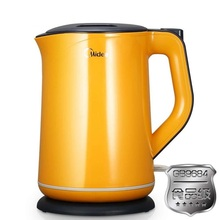 Midea WQJ1501b sealed spill mute bilayer anti-scald boiling water 1.5L electric kettle yellow(China (Mainland))