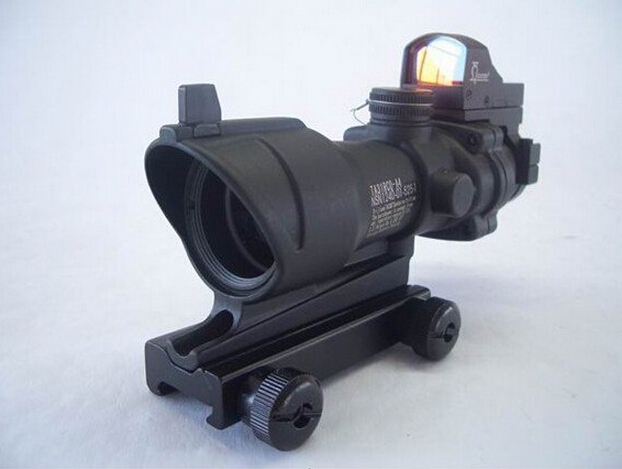 Trijicon ACOG 1x32 Green and Red Cross Hair Scope Tactical Shooting Hunting scope Free Shipping