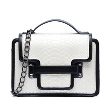 New Women Handbags Crocodile Shoulder Bag Flap Messenger Bag Designer Handbags High Quality Crossbody Bags Women Handbag Purse(China (Mainland))