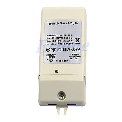 G104 Free Shipping New LED Driver Power Supply Adapter Electronic Transformer DC 12V 1A(China (Mainland))