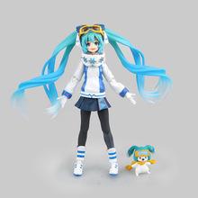 Anime Figure 14 CM Hatsune Miku Figma EX-030 Snow Miku Snow Owl Ver. PVC Action Figure Collectible Model Toy