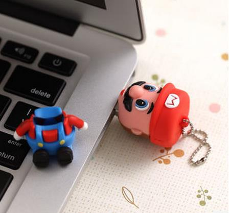 Bestselling! USB creativoSuper cartoon figure Mario game pen drive model usd disk 8gb 16gb 32gb 64gb USB Flash Drive 2.0 S5(China (Mainland))