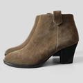 2017 Suitable for All Season Women Nubuck Leather Ankle Boots Medium Heel Full Grain Leather Women