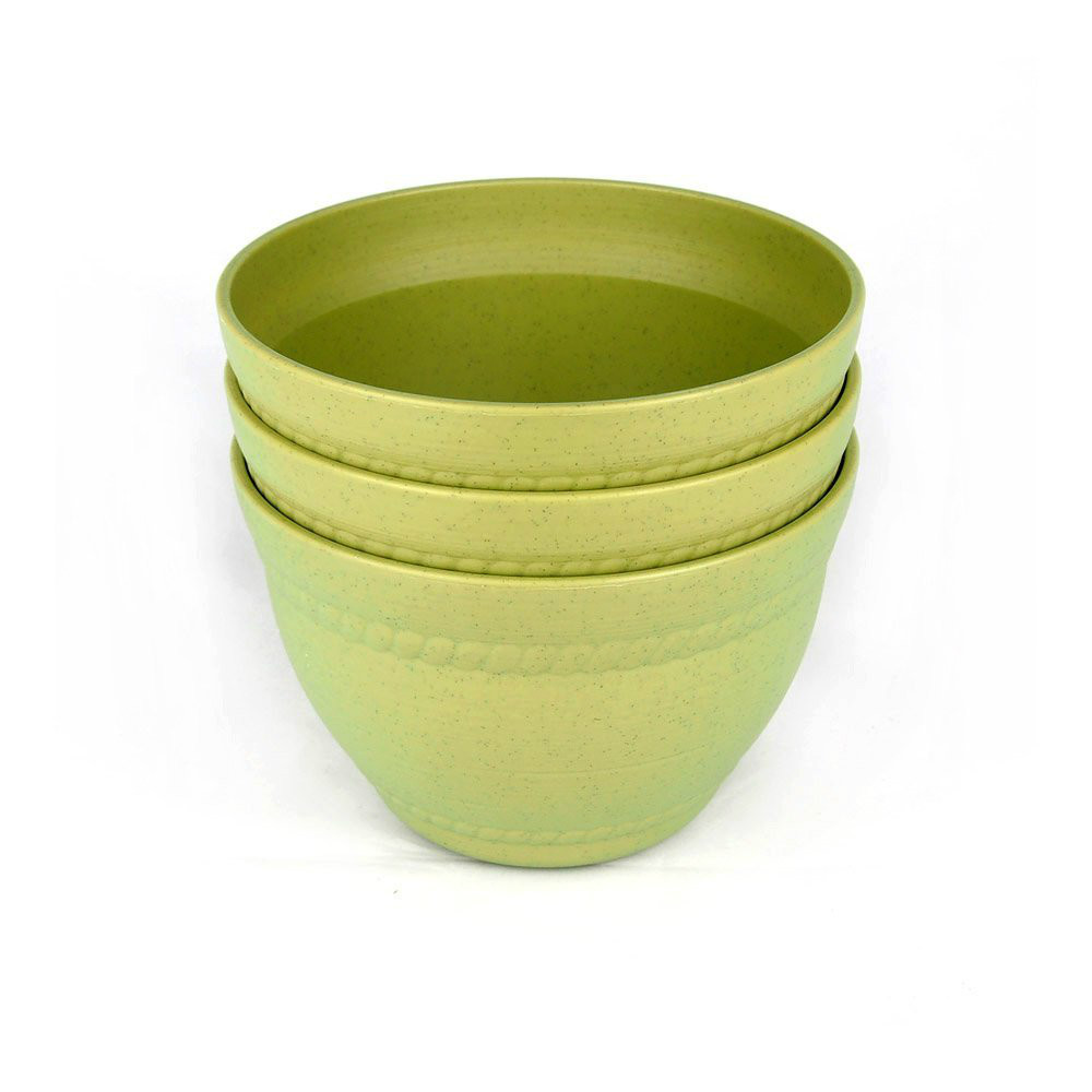 3pcs 6 inch green deluxe colorful ceramic planter green for 6 ceramic flower pots