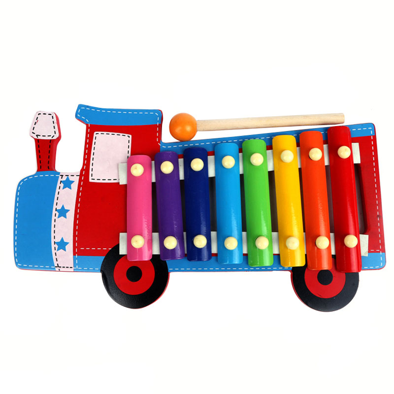 A29 Children's Early Education Music Teaching Hand Knock Piano Wooden Baby Toys VBE95 T18 50(China (Mainland))