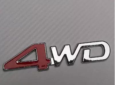 Auto Logo for Pajero Cheetah Red 4WD Three-dimensional Four-wheel drive Cross country Refit Auto Logo Special-purpose Mitsubishi(China (Mainland))