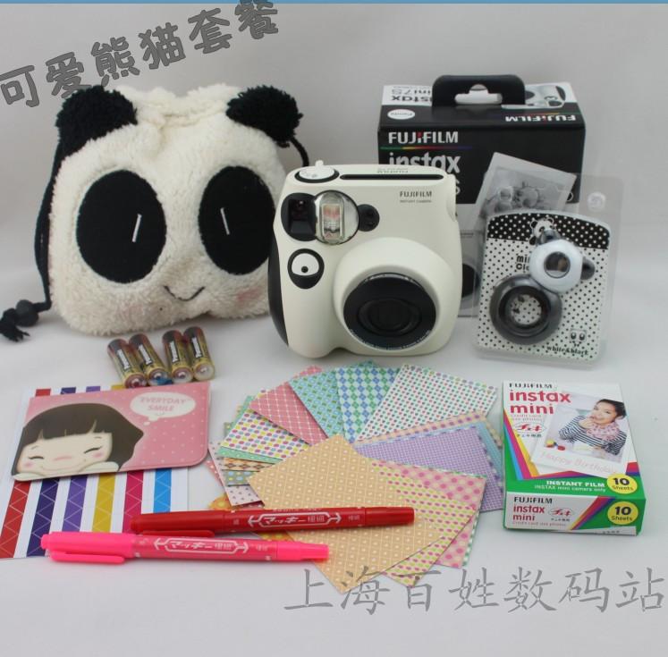 free shipping ! 100% original Bakufu clearshot camera fuji once imaging polaroid mini7s camera photo paper bundle in stock(China (Mainland))