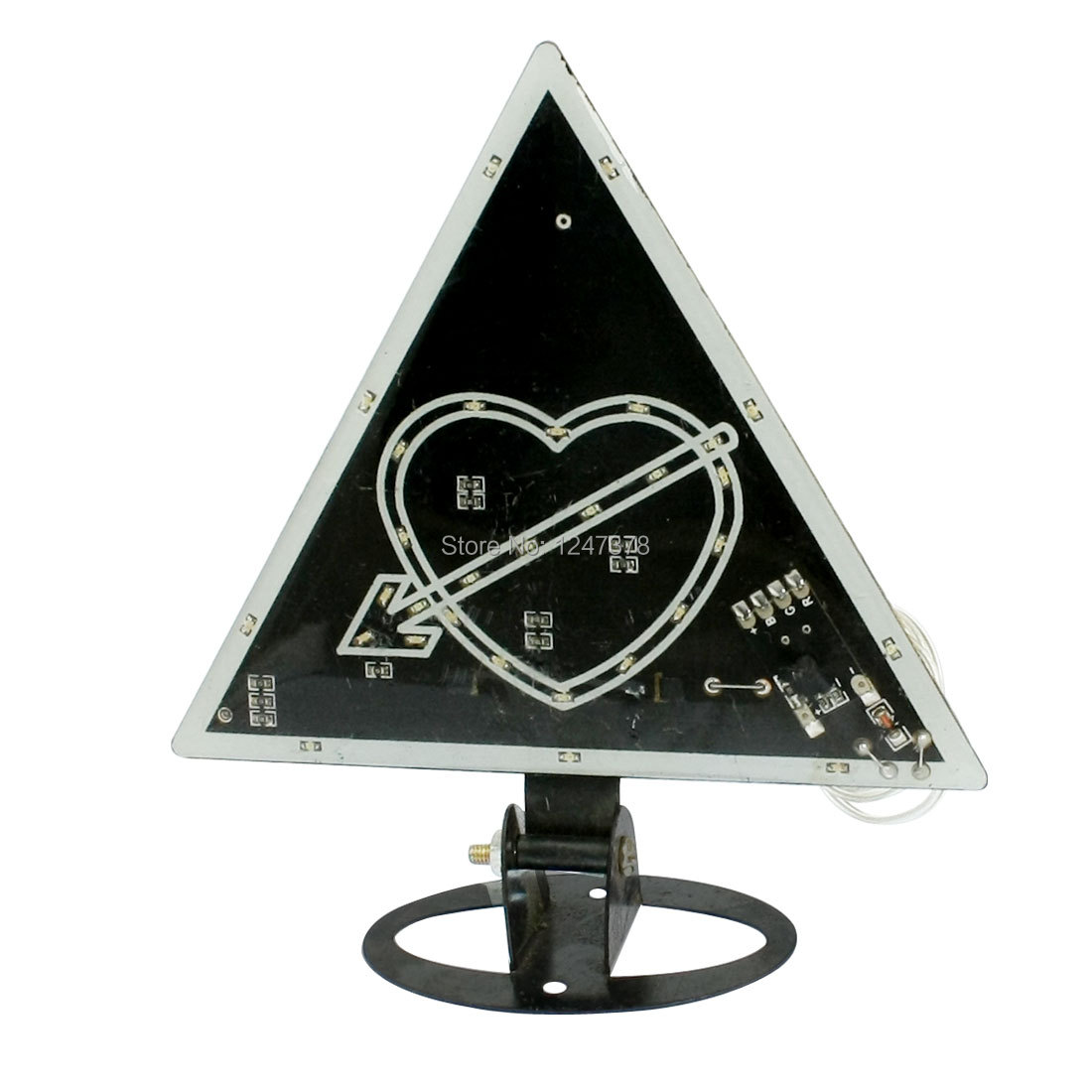 Cupid Heart Red Green Blue Flashing Light 30-LED Car Lamp(China (Mainland))