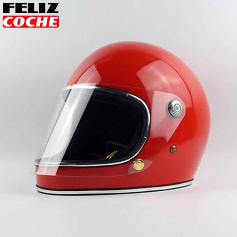 Japan Thompson Men Motorcycle Helmet Vintage Full Face Motorcycle Helmet With Lens Ghost Rider Racing Shiny Helmets TT& CO A2334(China (Mainland))