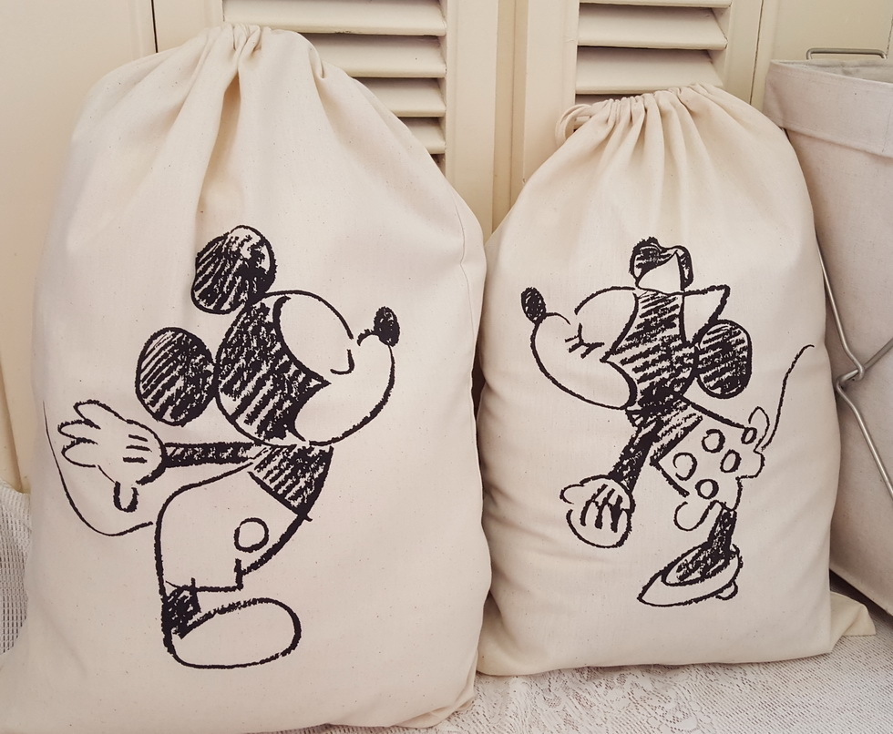 Cartoon Printing Laundry Storage Bag Pouch, Cotton Canvas Bag for Toys Clothes,Baby Kids Toys Storage Bag Cute Wall Pocket(China (Mainland))