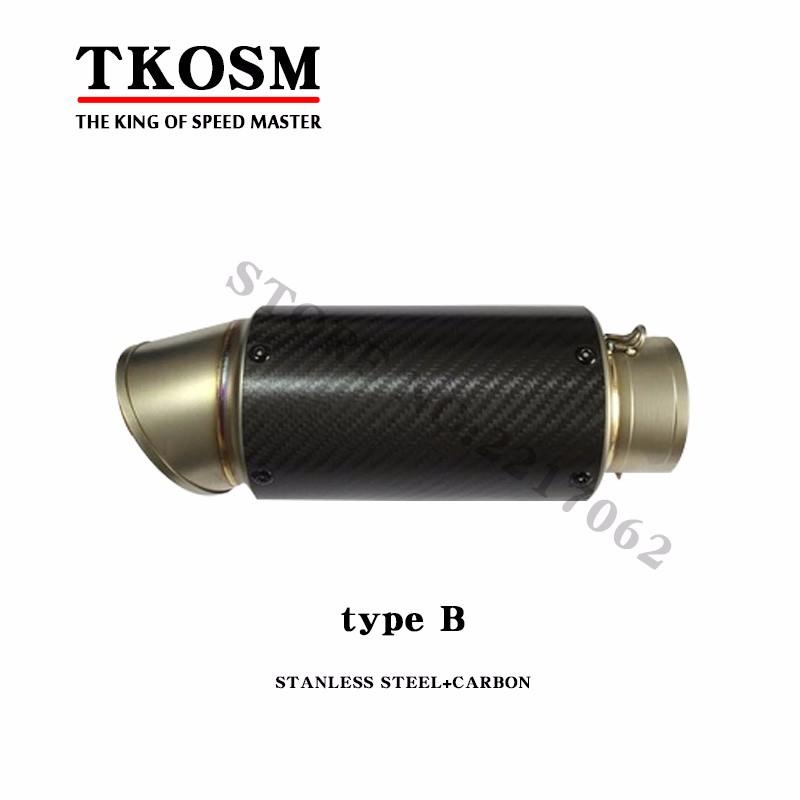 Id 51 Mm 2 Od 76 Mm 3 Customized Motorcycle Carbon Fiber Titanium Exhaust Pipe Muffler Escape Carbon Fiber Titanium Exhaust