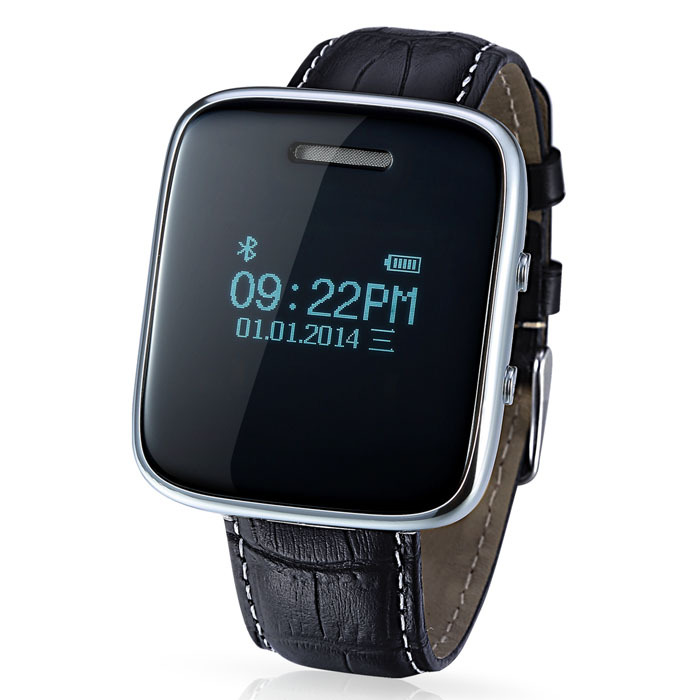 Cheapest Android Phone Bluetooth Watch Smart Watch can Answer Phone Call, Play Music, Support QQ,SKype, Wechat, WhatsApp,etc(China (Mainland))