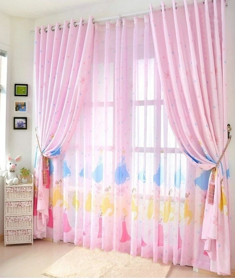 eco friendly curtains for kids cartoon curtain finished