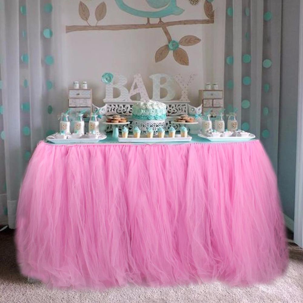Baby shower tulle tutu table skirt christmas decorations for Christmas table decorations sale