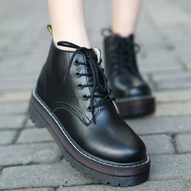 Fashion Vintage Genuine Leather Martin Boots Preppy Style Platform Shoes Round Toe Lacing Oxford Shoes For Women Designer Shoes