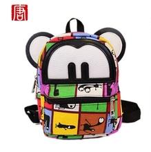 New Cute Cartoon Girls Backpack Women Travel Bag Young women Canvas Backpack Brand fashion school Sports Bags Mickey ears Bags