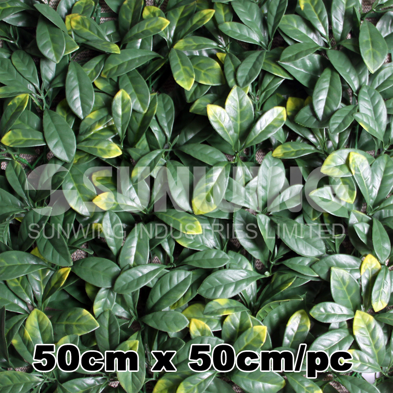 Free Shipping 50cmX50cm artificial plants for backyard artifical hedge Osmanthus Leaf artificial green fence-G0602A003B(China (Mainland))