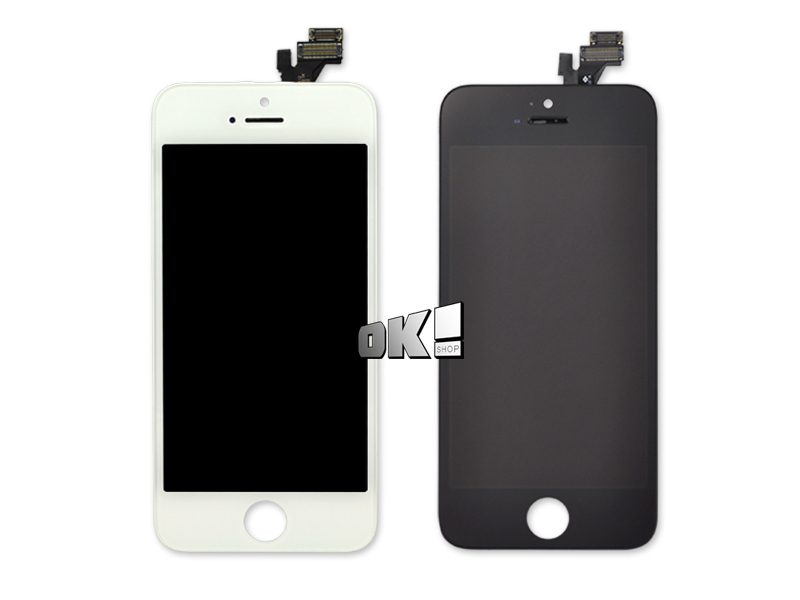 DHL 30 pcs Black and White Color LCD Display + Touch Screen Digitizer LCD Assembly For iPhone 5 free DHL shipping(China (Mainland))