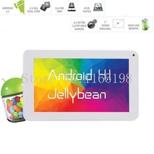 cheap Dual Core/ Cameras  tablet pc 512MB/ 8GB Android 4.1 tablet 7 inch  Amlogic AML8726 MX  WiFi 3000mAh(China (Mainland))