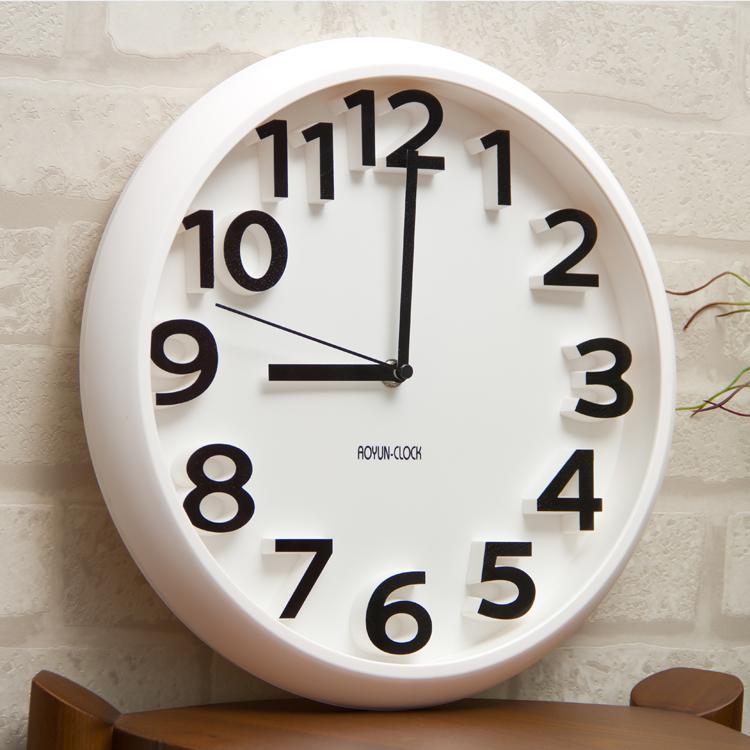 QIYUE fashion creative wall clock clock digital clock art personality of modern minimalist living room clock watch free shipping(China (Mainland))