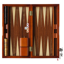 Backgammon Set Brown White Portable Travel Folding Case NEW(China (Mainland))