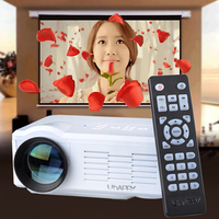 High Quality 640*480 Resolution 16770k Color Portable White LED Mini Projector For Office/Home Use