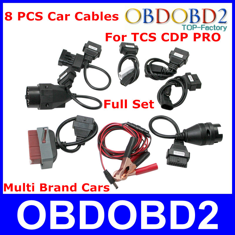 Professional CDP PRO Car Cables Full Set 8 Pcs TCS CDP Car Cables OBD/OBD2 Diagnostic Cables For Multi-Brand Cars High Quality<br><br>Aliexpress