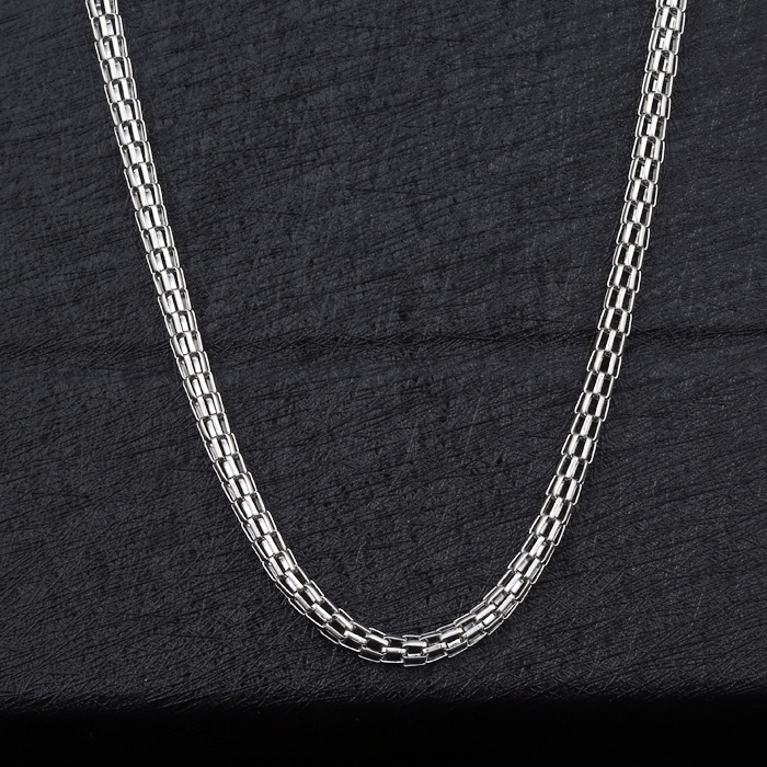 Trendy New Necklaces Quality Never Fade 316L Stainless Steel Figaro Chains Necklaces & Pendants Women Men Jewelry(China (Mainland))